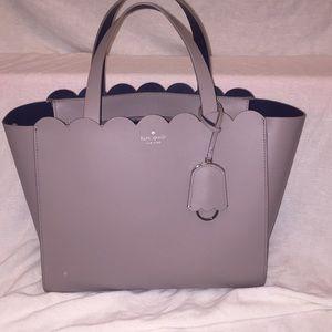Grey scalloped Kate spade bag